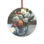 Flowers (#2) by Elsie Batzell Ornament (Round)