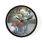 Flowers (#2) by Elsie Batzell Wall Clock