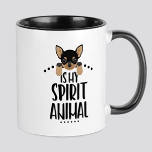 Chihuahua Is My Spirit Animal 11 Oz Ceramic Mugs