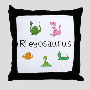 Rileyosaurus Throw Pillow