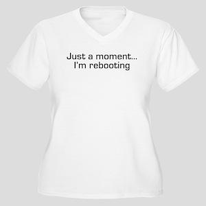 I'm Rebooting Women's Plus Size V-Neck T-Shirt