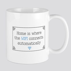 Home is Where the WIFI Connects Mugs