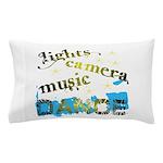 Lights Camera Music Dance Pillow Case