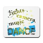 Lights Camera Music Dance Mousepad