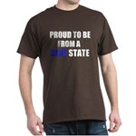 Blue State Brown T-Shirt