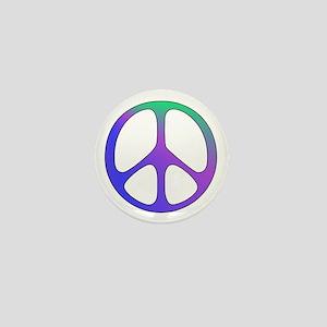 Rainbow Colored Peace Sign Mini Button