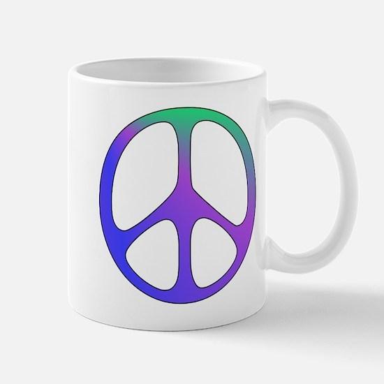 Classic Rainbow Peace Sign Mug
