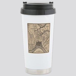 Vintage Map of New Orle Stainless Steel Travel Mug