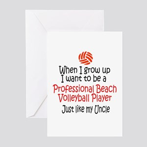 WIGU Pro Beach Volleyball Uncle Greeting Cards (Pa