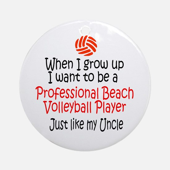WIGU Pro Beach Volleyball Uncle Ornament (Round)