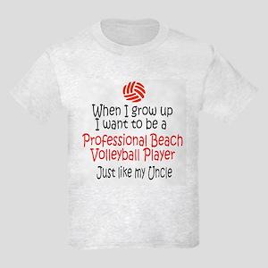 WIGU Pro Beach Volleyball Uncle Kids Light T-Shirt