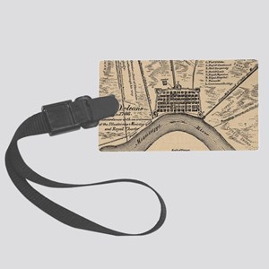 Vintage Map of New Orleans Louis Large Luggage Tag