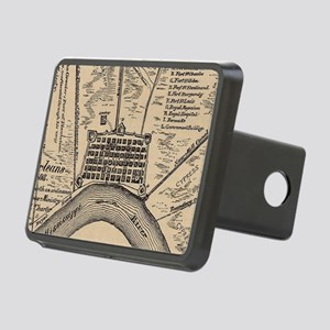 Vintage Map of New Orleans Rectangular Hitch Cover