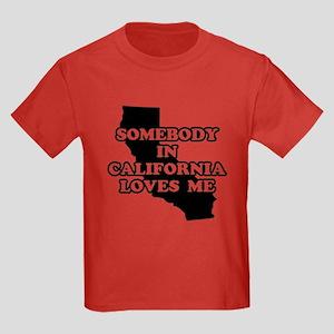 Somebody In California Loves Kids Dark T-Shirt