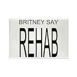 Original Britney Say Rehab Rectangle Magnets, 10