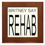 The Original Britney Say Rehab Framed Tile