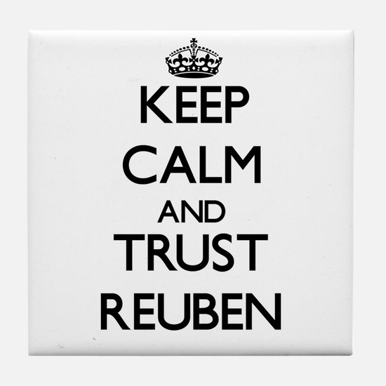 Keep Calm and TRUST Reuben Tile Coaster