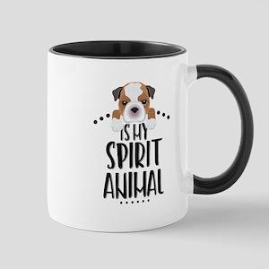 Bulldog Is My Spirit Animal 11 oz Ceramic Mug