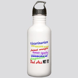 Bad Ass Veterinarian Stainless Water Bottle 1.0L