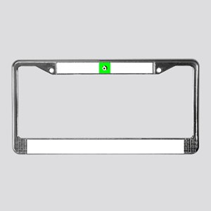 Green Soccer Football Kick It License Plate Frame