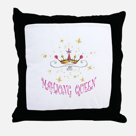 MAHJONG QUEEN Throw Pillow
