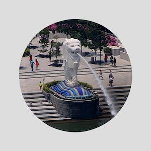 "Merlion statue, Singapore 3.5"" Button"