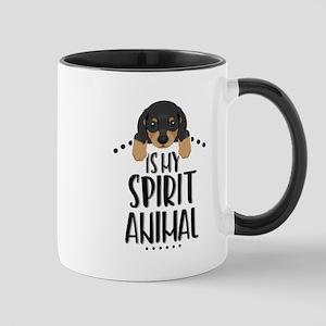 Dachshund Is My Spirit Animal 11 oz Ceramic Mug