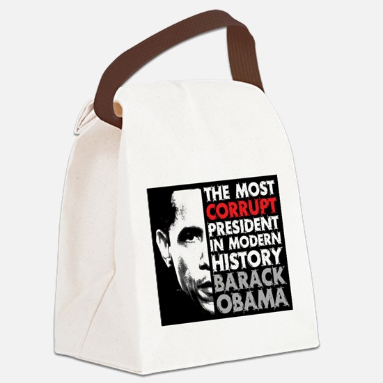 Most Corrupt President Canvas Lunch Bag