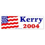 American Flag Kerry 2004 Bumper Sticker