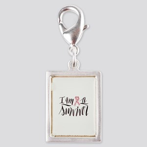 I Am A Survivor Pink Ribbon Design Charms