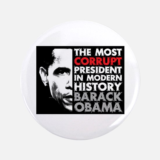 "Most Corrupt President 3.5"" Button"