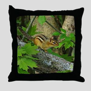 Roaming chipmunk Throw Pillow