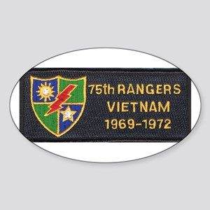 75th Rangers Oval Sticker