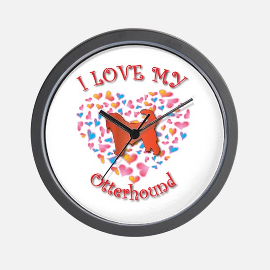 Love Otterhound Wall Clock