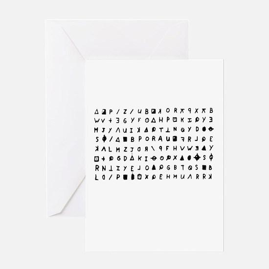 Zodiac killer Greeting Cards