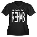 The Original Britney Say Rehab Plus Size V-neck
