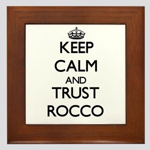Keep Calm and TRUST Rocco Framed Tile