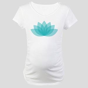 Lotus Blossom Maternity T-Shirt