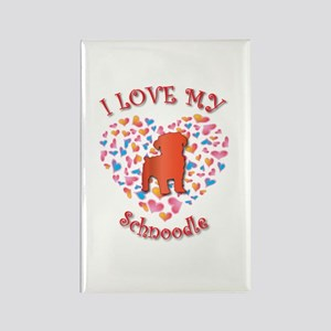 Love Schnoodle Rectangle Magnet