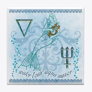 Water Element Tile Coaster