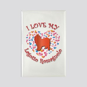 Love Lagotto Rectangle Magnet