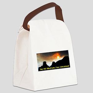 Veni Vidi Video Canvas Lunch Bag