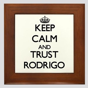 Keep Calm and TRUST Rodrigo Framed Tile