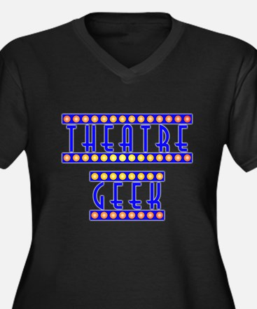 Theatre Geek Women's Plus Size V-Neck Dark T-Shirt