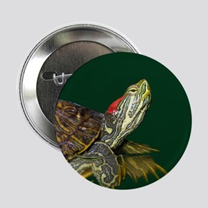 "Lively Red Eared Slider 2.25"" Button"