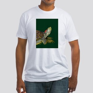 Lively Red Eared Slider Fitted T-Shirt
