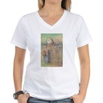 Image on FRONT - Women's V-Neck T-Shirt