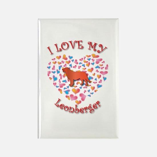 Love Leo Rectangle Magnet