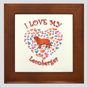 Love Leo Framed Tile