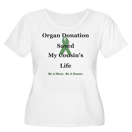 Cousin Transplant Women's Plus Size Scoop Neck T-S